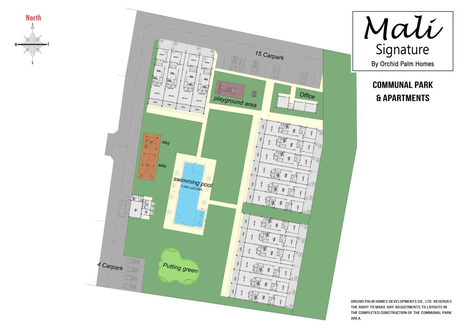 Communal Park & Garden   Swimming Pool   Apartments   Orchid Palm Homes