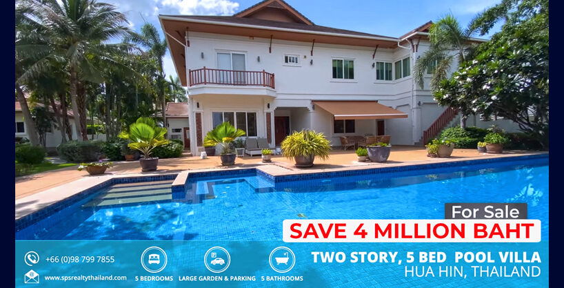 Two story luxury private pool villa