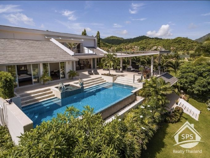 Hua Hin Real Estate Palm Hills Golf Club Luxury Pool Villa